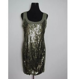 Cocktail Dress Sz 12 Womens Sequins Glitter Party